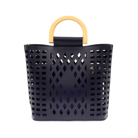 Joy Susan Madison Cut Out Tote - Navy L8058-07