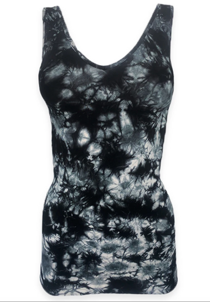 Elietian Scoop and V-Neck Tank - Tie Dye