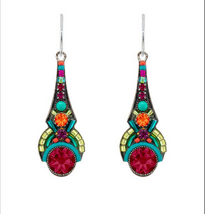 Firefly 7816MC Art Deco Drop Earrings Multicolor