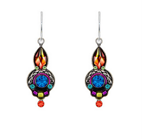Firefly 7755MC Round Drop Earrings Multicolor