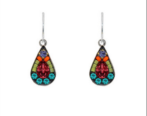 Firefly 6674MC Mosaic Tear Drop Earrings Multicolor