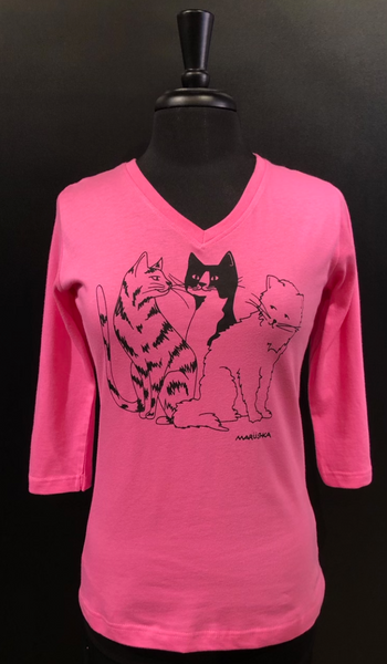 Marüshka Fuschia CAT CHAT T-Shirt