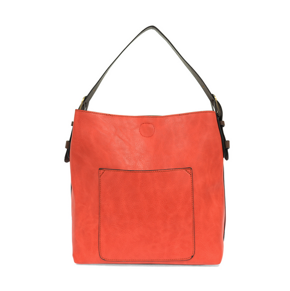 Joy Susan Hobo Bag - Coral/Coffee l8008-91