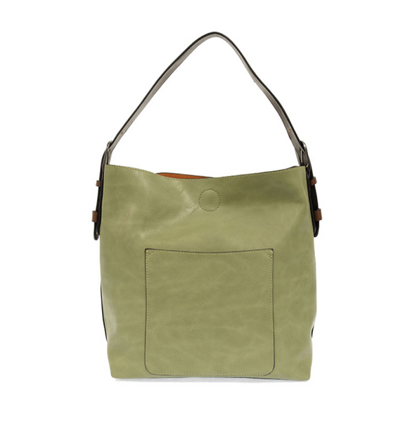 Joy Susan Hobo Bag - Eucalyptus/Coffe & Silver Buckle L8008-72S