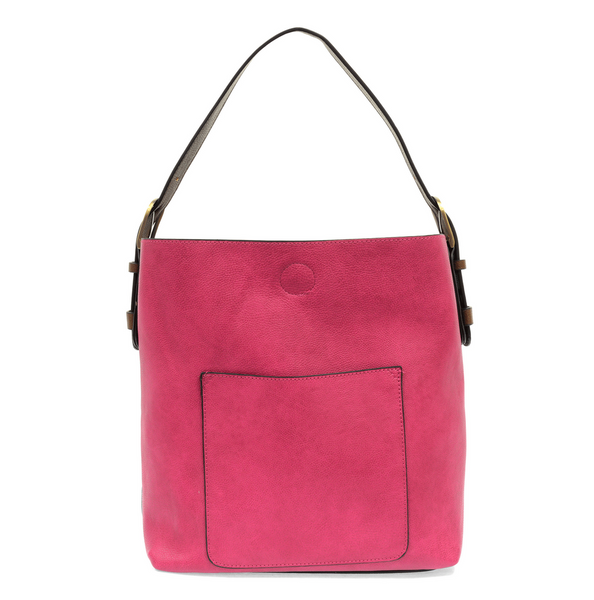 Joy Susan Hobo Bag - Fuchsia/Coffee L8008-47