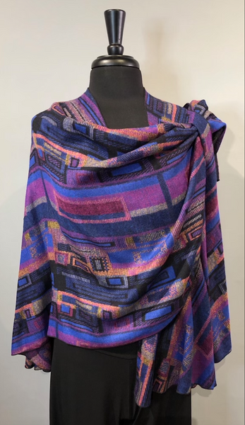 Rapti #10 Reversible Cashmere Buckle Shawl