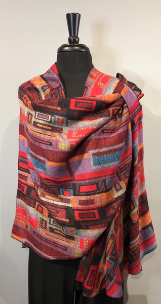 Rapti #3 Reversible Cashmere Buckle Shawl