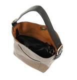Joy Susan Hobo Bag - Mushroom/Black L8008-94
