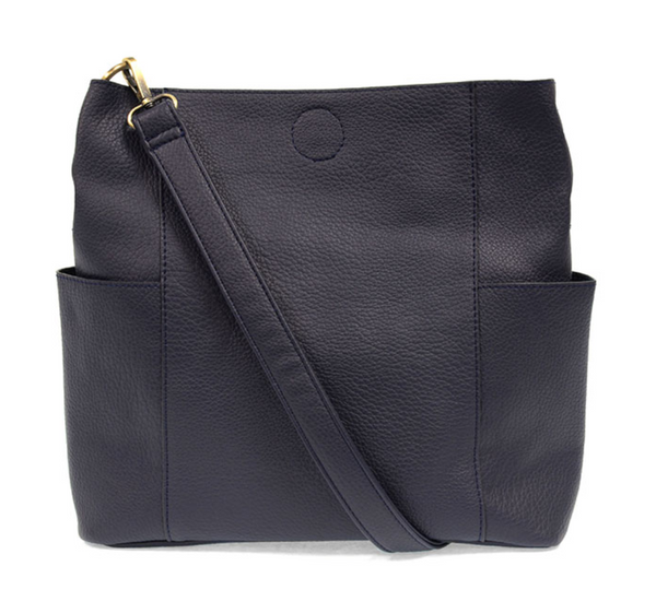 Joy Susan NAVY Kayleigh Side Pocket Bucket Bag L8089-07