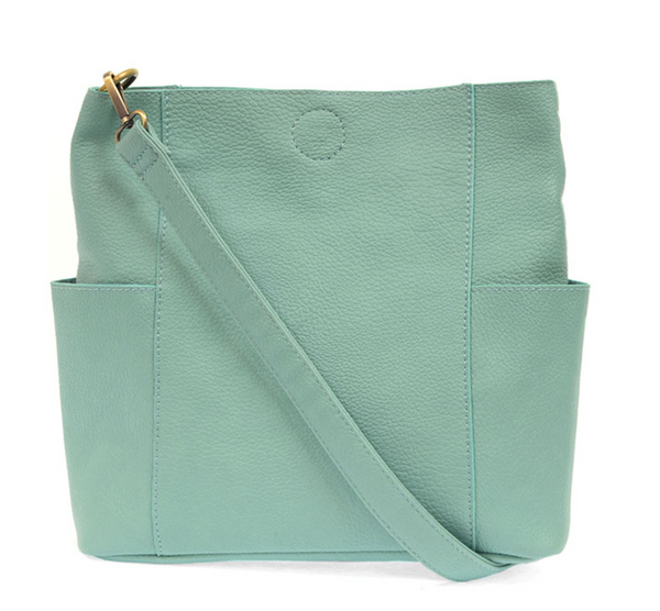 Joy Susan TURQUOISE Kayleigh Side Pocket Bucket Bag L8089-11