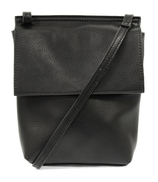 Joy Susan BLACK Aimee Front Flap Crossbody L8060-00