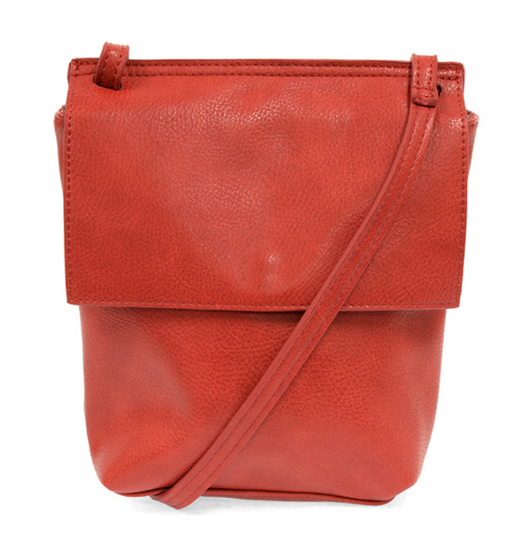 Joy Susan RED Aimee Front Flap Crossbody L8060-05