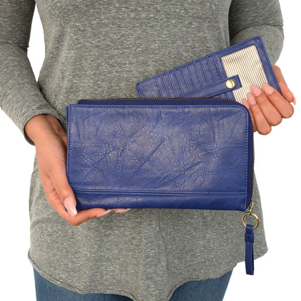 Joy Susan ROYAL Karina Convertible Wristlet & Wallet L8082-97
