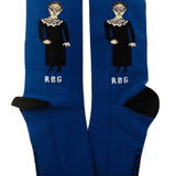 Maggie Stern Socks - RBG We March On - Blue