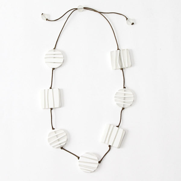 Sylca White Zebra Necklace AE20N18-2