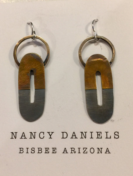 Nancy Daniels Hooped Loop Earrings