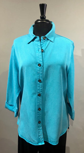 Pulp Button Down Shirt - Capri Blue