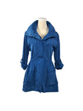 Silk + Honey ROYAL BLUE Travel RainJacket/Windbreaker