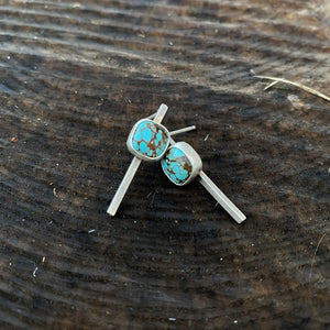 Cushion Cut Hubei Post Earrings