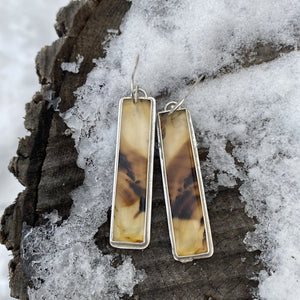 RESERVED FOR KAREN - Montana Agate Earrings