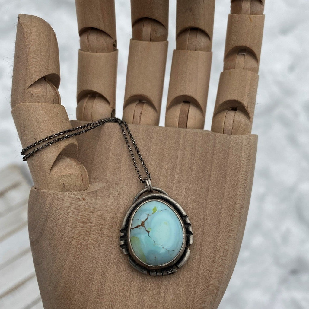 Gobi Desert Lavender Turquoise Pendant Necklace ~ The Lark Sparrow