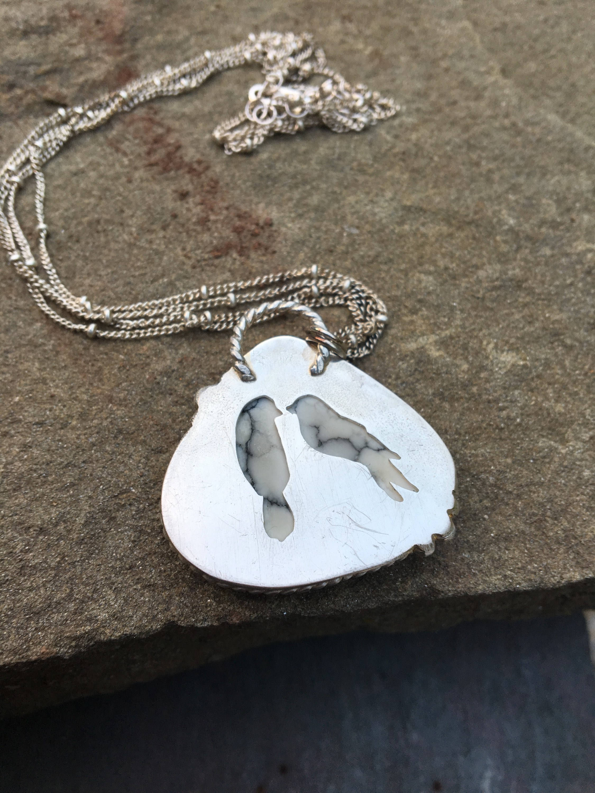 Natural Howlite Pendant Necklace