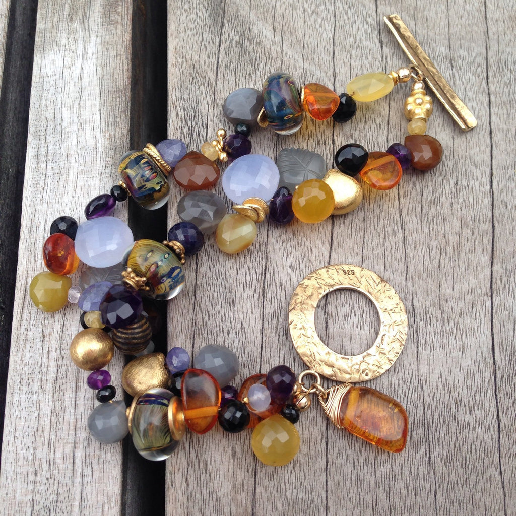 Double Strand Mixed Gemstone Bracelet