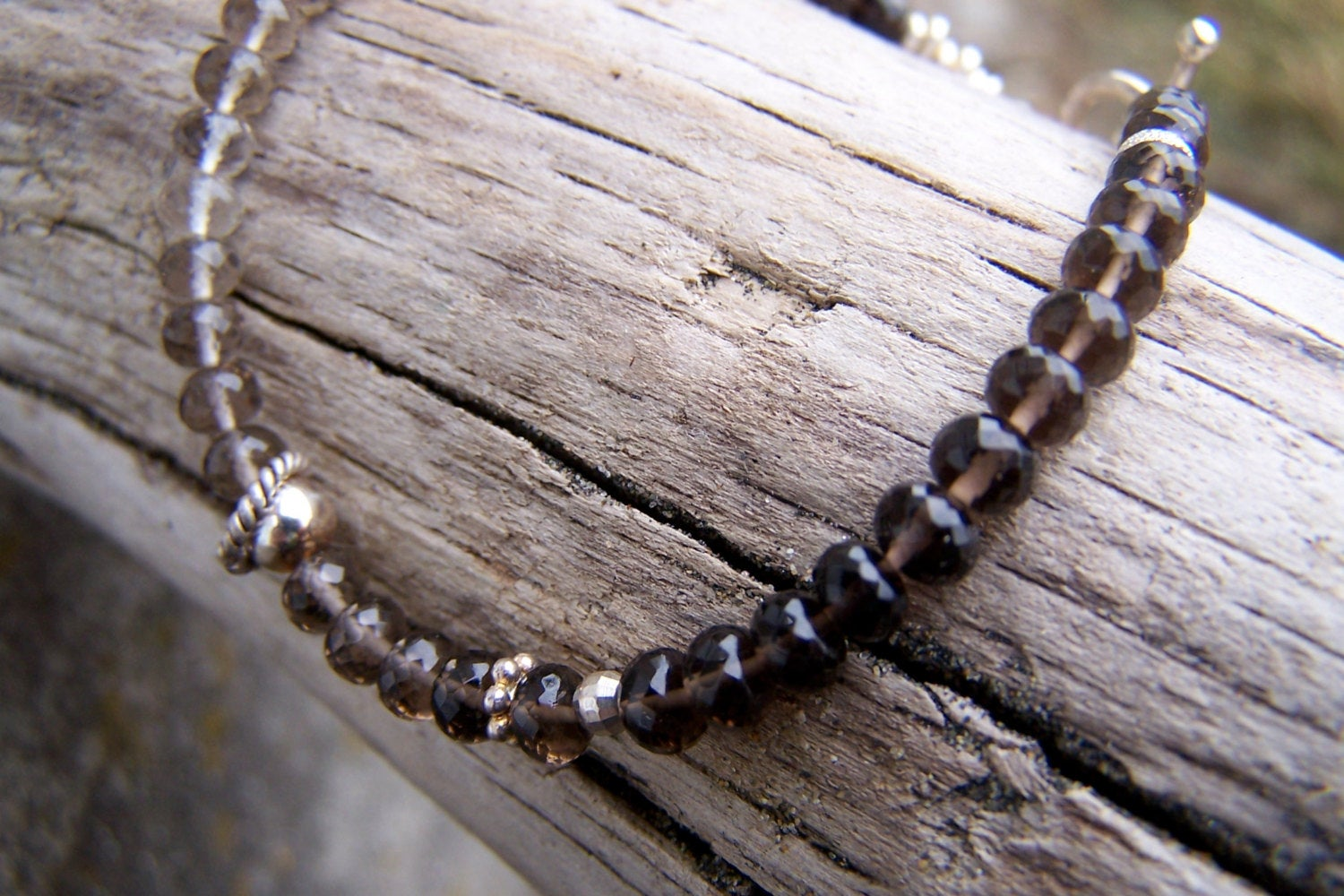 Smokey Quartz Beaded Stacking Bracelet