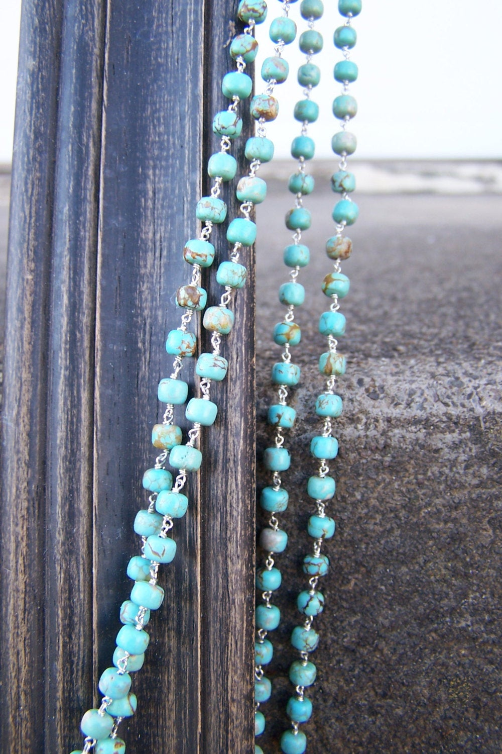 Natural Australian Beaded Turquoise Necklace