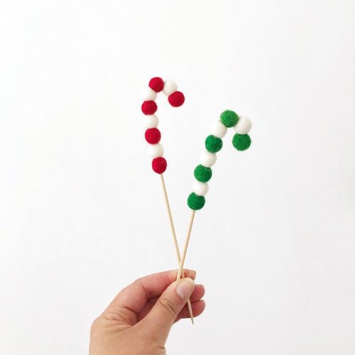 candy cane christmas cake topper the little shindig shop