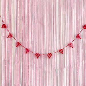 Valentine's Day party garland decorations by The Little Shindigshop