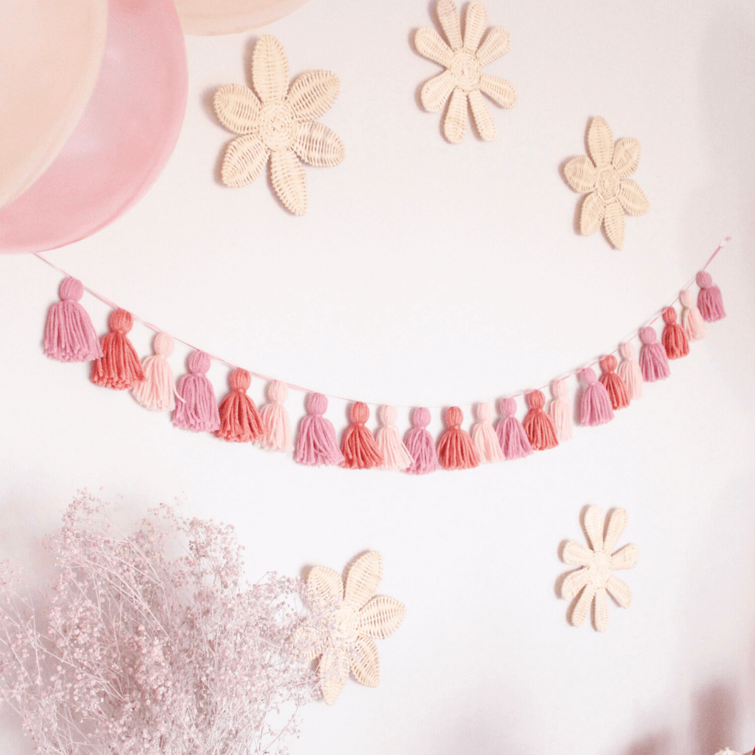 rose gold party decorations tassel garland The Little Shindig Shop