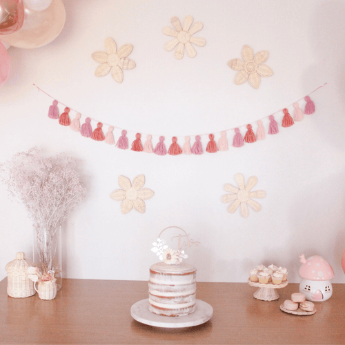 Tassel garland party decoration by The Little Shindig Shop