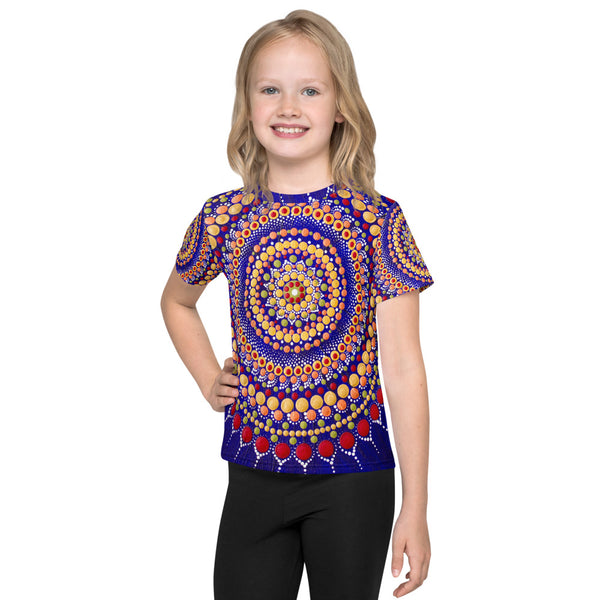 Blue Mandala Kids T-Shirt
