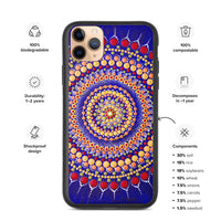 Blue Mandala Biodegradable iPhone case