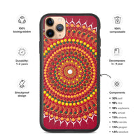 Red Mandala Biodegradable iPhone case