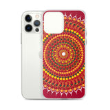 Red Mandala iPhone case
