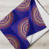 Blue Mandala throw blanket
