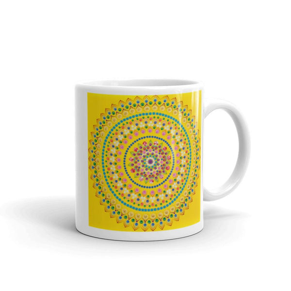 Yellow Mandala mug