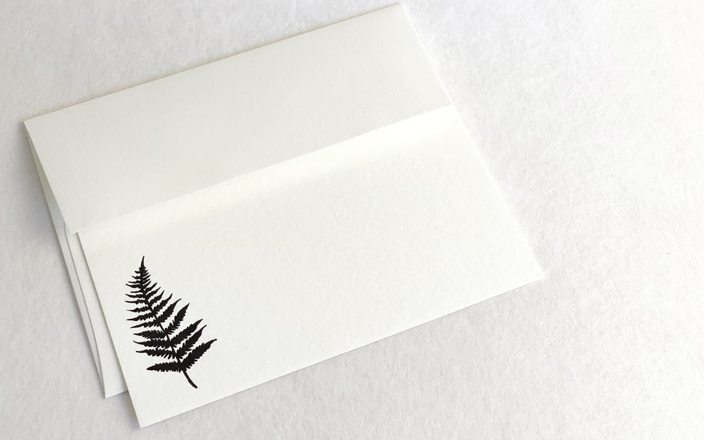 Letterpress Notelets Fern -Set of 4