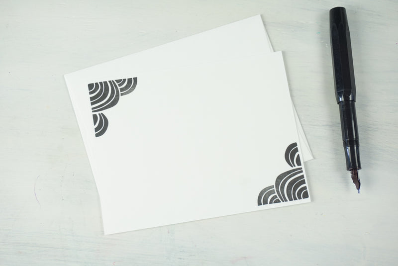 Cloud Letterpress Notelet - Single