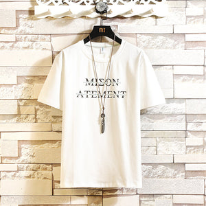 Custom Print T-shirt Mmen Knitted Round Collar and Soft Sleeve in Summer Clothing Men's    MYY1156