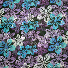 Load image into Gallery viewer, Chiffon Fabric For Seamless vivid floral spring pattern with translucent violet-blue-white flowers 24441252
