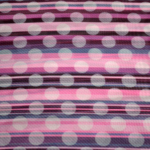 Chiffon Fabric For Seamless striped pink pattern with diagonal strips and translucent white polka dots 16524941