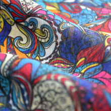 Load image into Gallery viewer, Chiffon Fabric For Colorful Floral Pattern