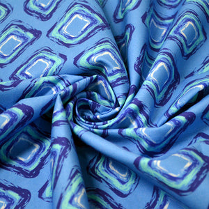 Cotton Poplin Fabric With Fun abstract seamless pattern of blue hand drawn rhombus 27528832