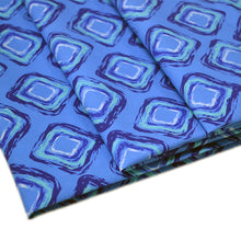 Load image into Gallery viewer, Cotton Poplin Fabric With Fun abstract seamless pattern of blue hand drawn rhombus 27528832