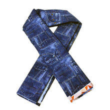 Load image into Gallery viewer, Cotton French Terry Fabric With Denim material patchwork 48781974