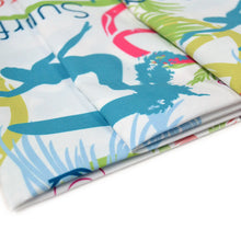 Load image into Gallery viewer, Chiffon Fabric With Surfing California San Francisco Colorful Seamless Pattern Surface Design With Surfing Women 52154254