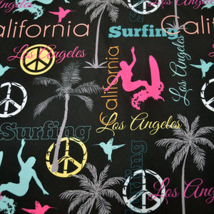 Chiffon Fabric With Surf Boards Graphic Design 52154251